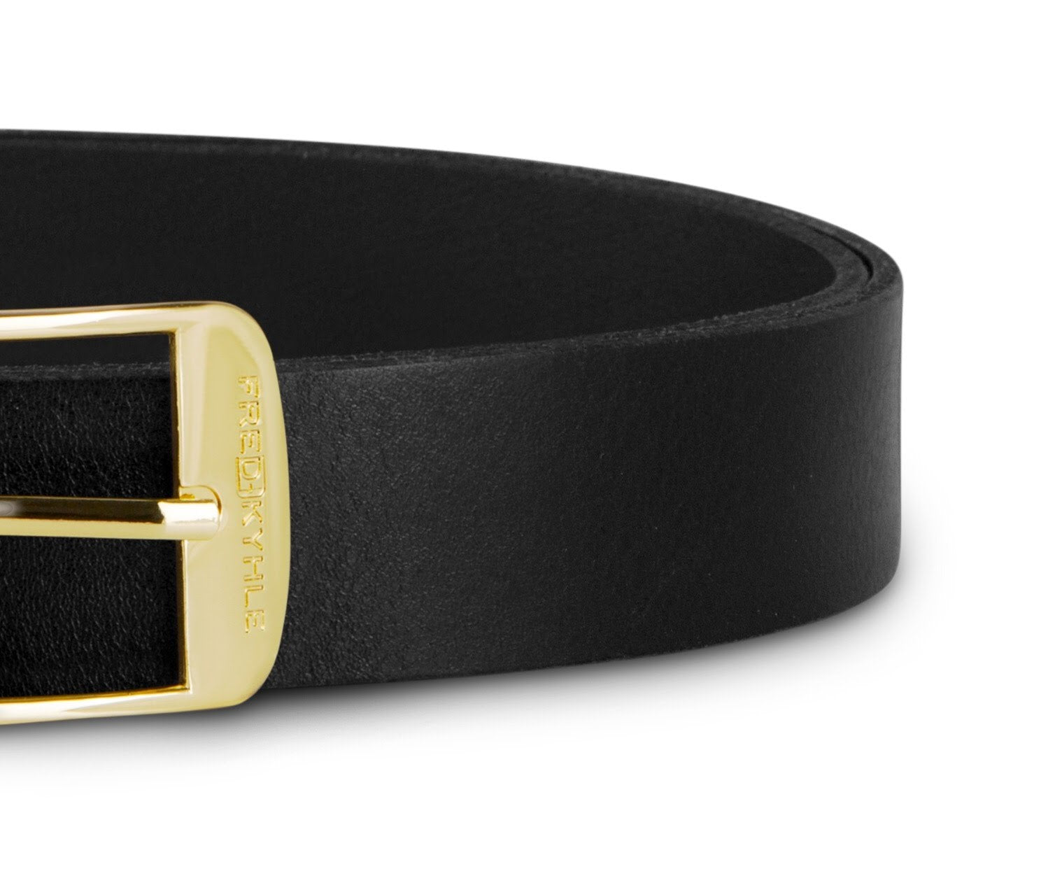 Black Leather with Golden Buckle