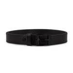 Black Stitched Leather with Black Buckle