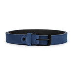 Blue Suede with Black Buckle