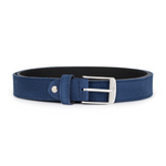 Blue Suede with Silver Buckle