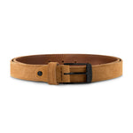 Cognac Suede with Black Buckle