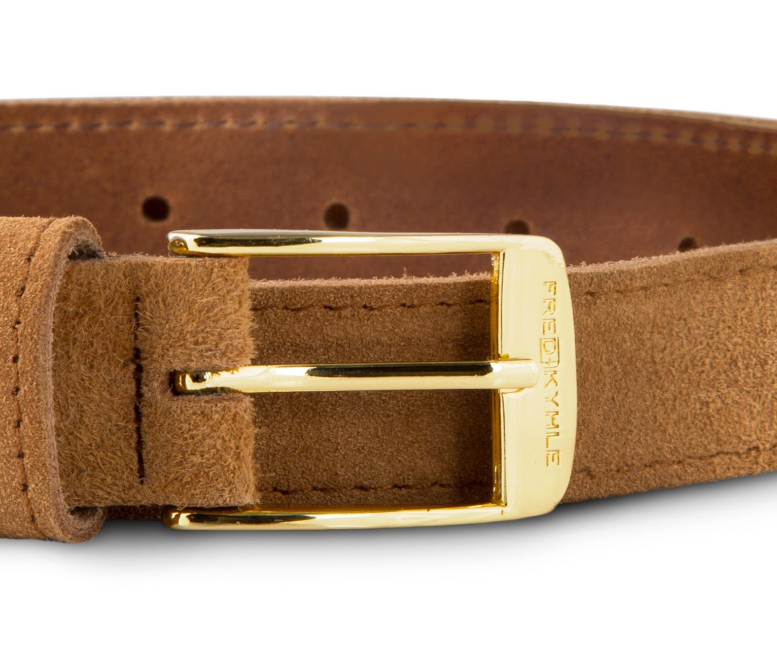 Cognac Suede with Golden Buckle