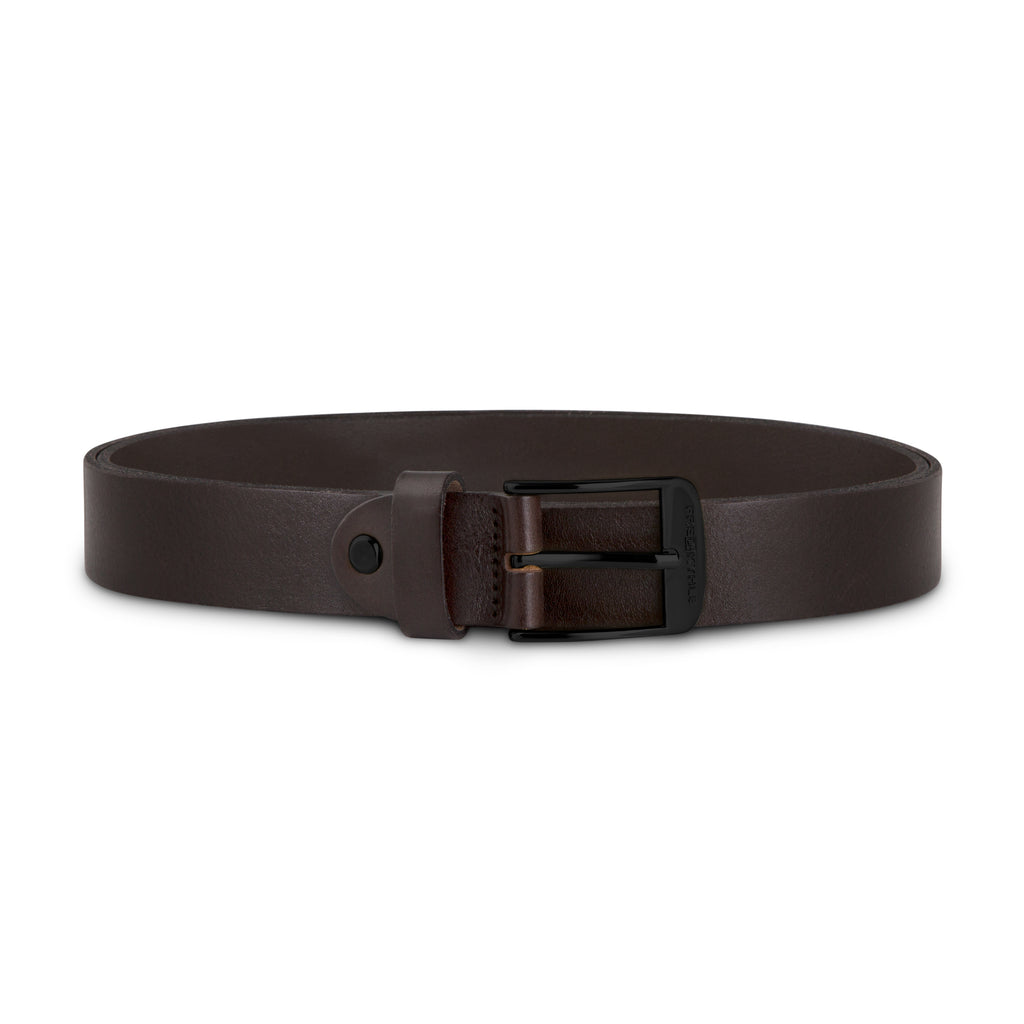 Dark Brown Leather with Black Buckle
