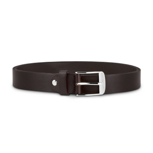 Dark Brown Leather with Silver Buckle
