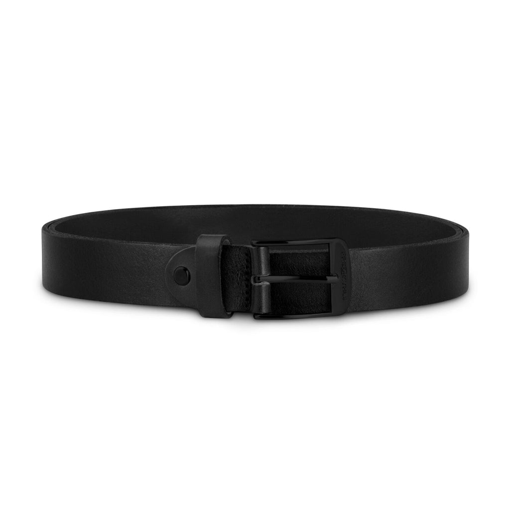Black Leather with Black Buckle