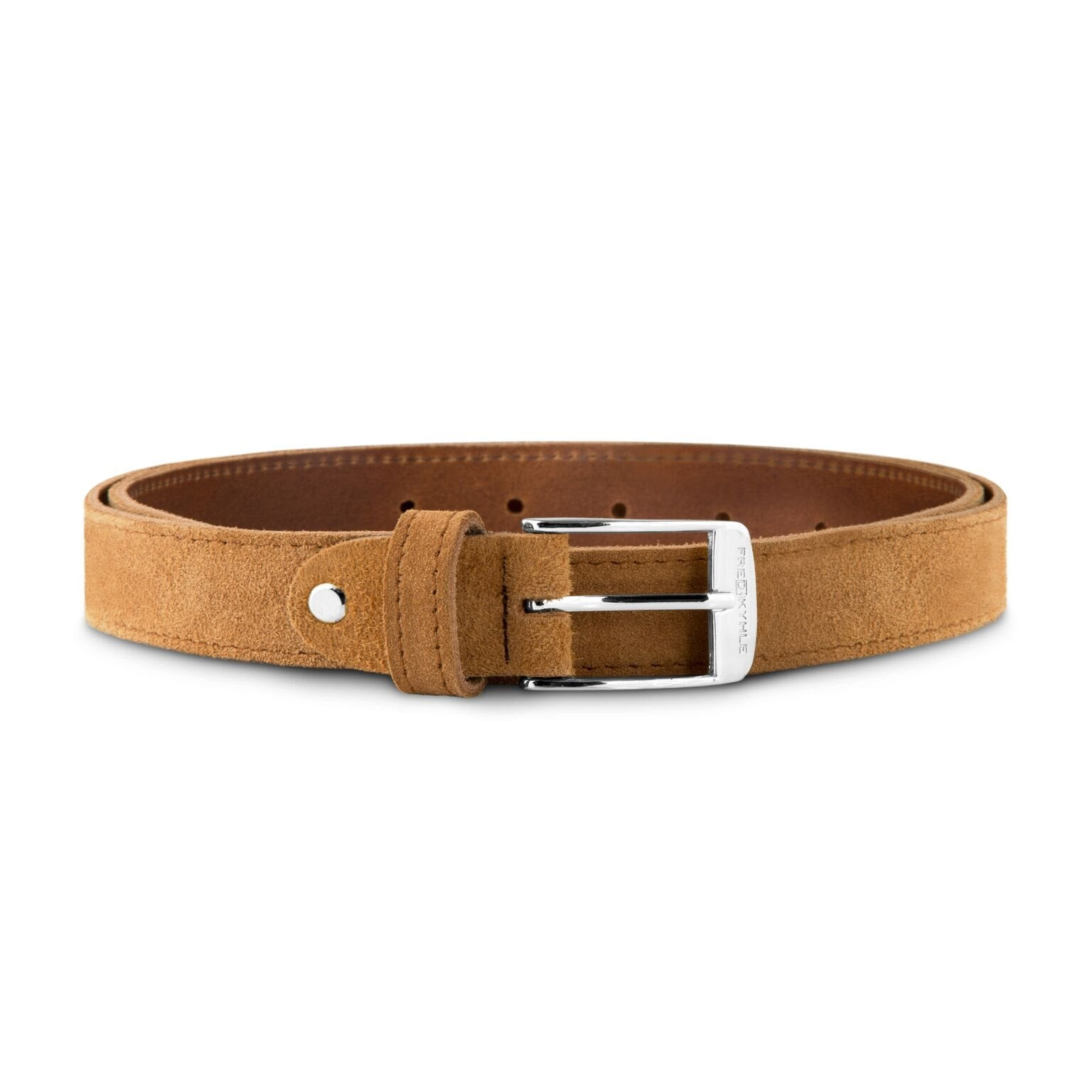 Cognac Suede with Silver Buckle