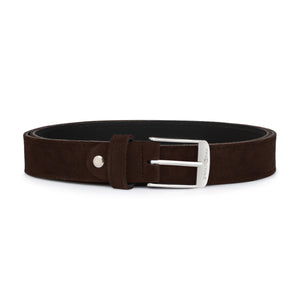 Dark Brown Suede with Silver Buckle
