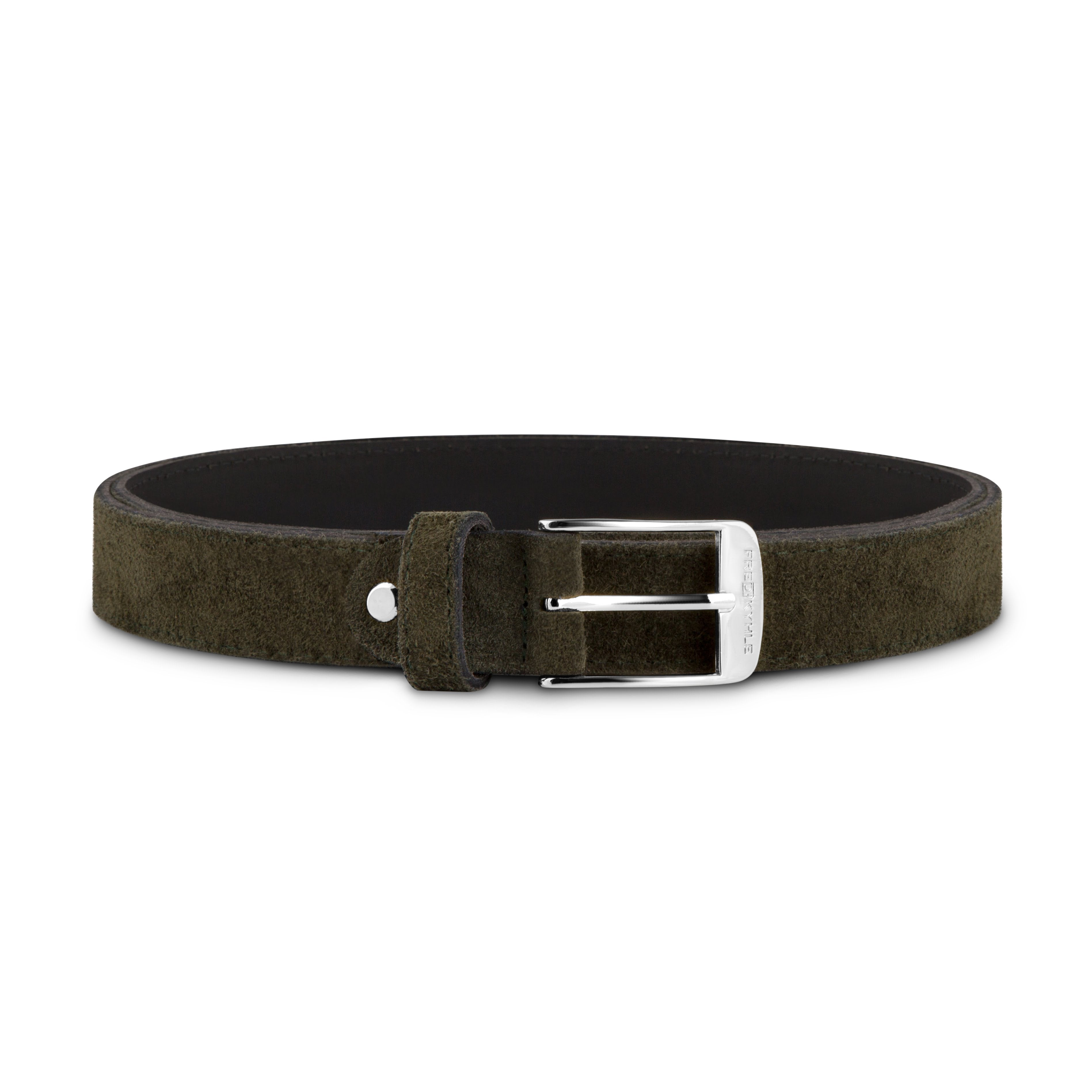 Dark Green Suede with Silver Buckle