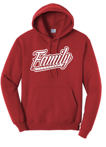 Family Hooded Sweater (Red)
