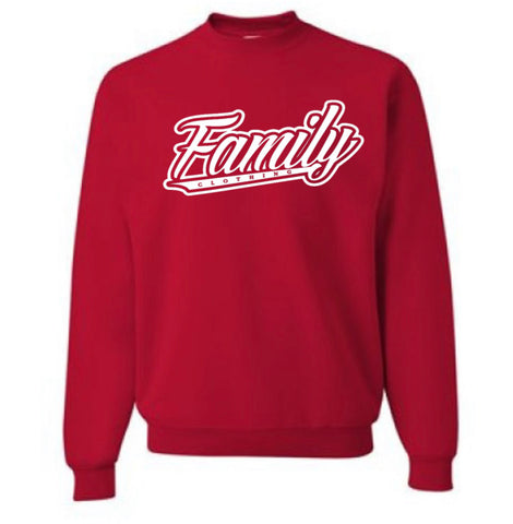 Family Crew Neck Sweater (Red)