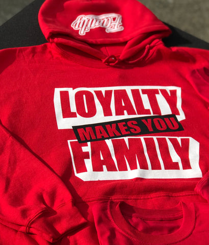 RED LOYALTY FAMILY HOODIE