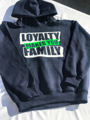NAVY BLUE LOYAL FAMILY HOODIE