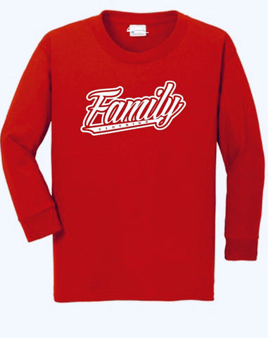 Red Family Long Sleeve T-Shirt