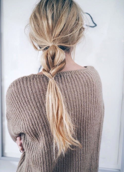 Workout hairstyle: braid and ponytail combo