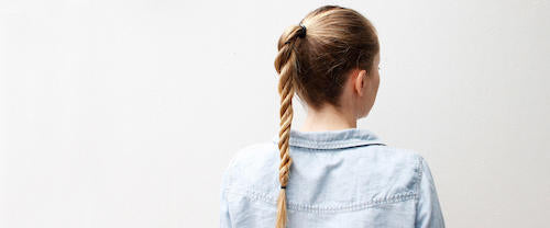 Workout hairstyle: ponytail