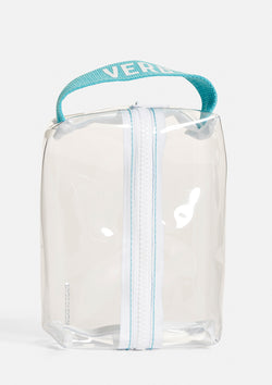 Clear Bag with Blue Handle