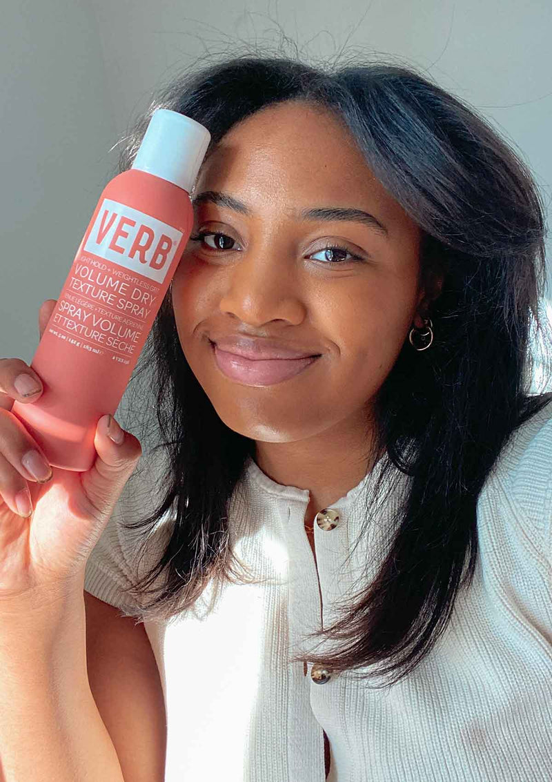 Customer with Verb Volume Dry Texture Spray