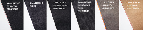 Raw and selvedge denim options