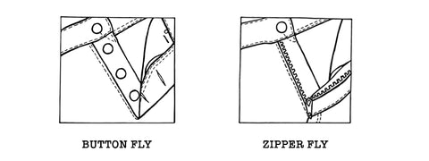 Button Zipper Fly