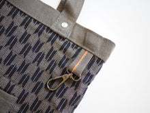 Load image into Gallery viewer, Utility Tote Bag V2 (11oz Grey Selvedge Denim)