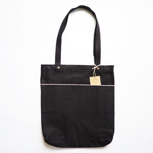 Utility Tote Bag (12oz Black Selvedge Denim)