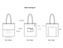 Load image into Gallery viewer, Utility Tote Bag V2 (14oz Indigo Denim)