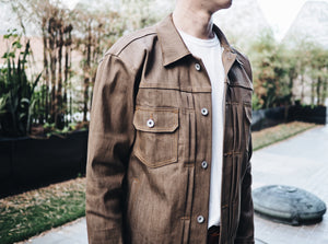 12oz Coffee Stretch Raw Denim (Custom Jacket)