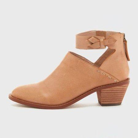 4341ad9bb710e ... Load image into Gallery viewer, Stylish Chunky Heel Ankle Strap Daily  Zipper Boots ...