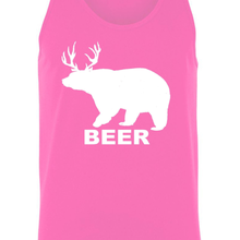 "Load image into Gallery viewer, Men's ""Bear Deer Beer"" Tank Top Shirt"