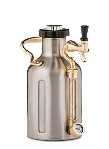 uKeg 64oz Pressurized Growler for Craft Beer - Stainless Steel