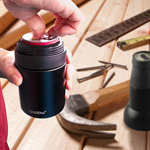 Frosty Beer 2 Go Vacuum Insulated Stainless Steel Beer Bottle and Can Cooler with Beer Opener