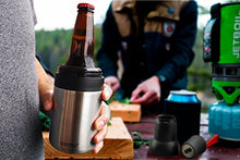 Load image into Gallery viewer, Frosty Beer 2 Go Vacuum Insulated Stainless Steel Beer Bottle and Can Cooler with Beer Opener