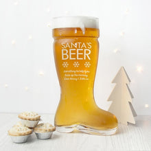 Load image into Gallery viewer, Personalised Large Santa's Boot Beer Glass