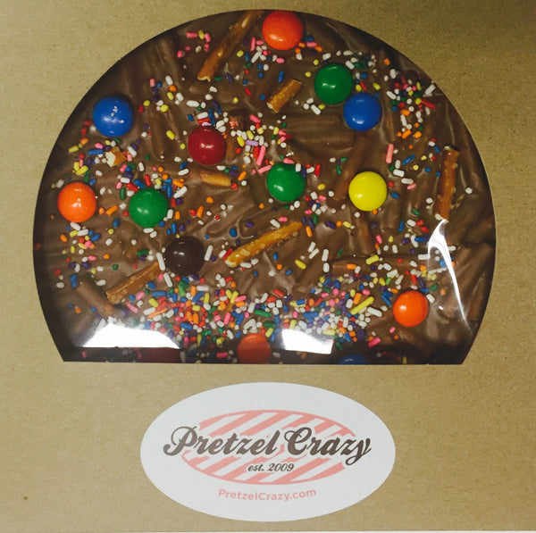 CHOCOLATE PRETZEL PIZZA