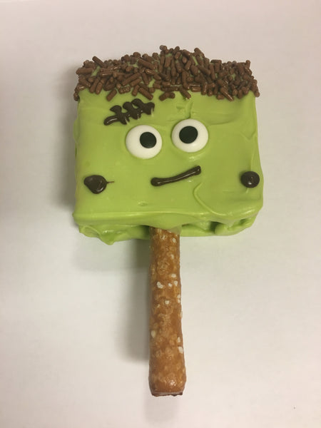 Frankenstein chocolate graham crackers