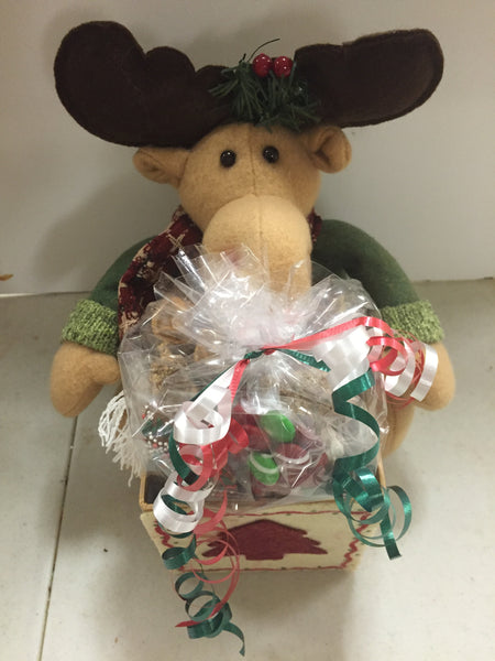 MOOSE AND SANTA GIFT BASKETS