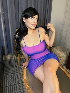 Neon Purple Bandeau Dress