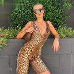 Leopard Sleeveless Playsuit