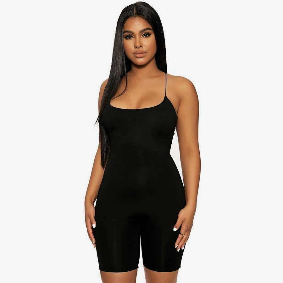 All Black Bodycon Jumpsuit