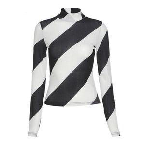 Zebra Striped Long Sleeve Tee