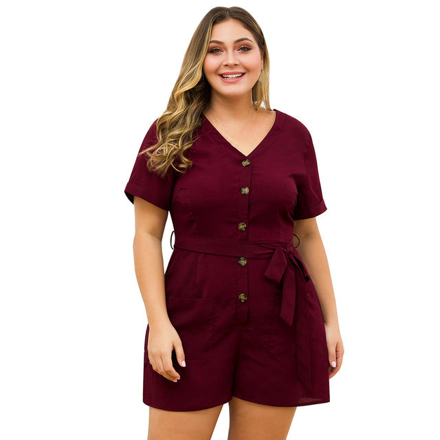 Casual Buttoned Playsuit