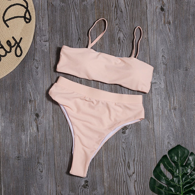 Bandeau High Waisted Bikini