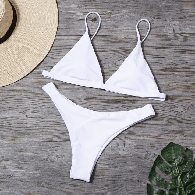 Plain Triangle Cut Bikini
