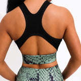 Snake Print 2 Piece Yoga Set
