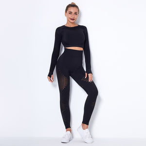 Long-Sleeve Top & Leggings Training Set