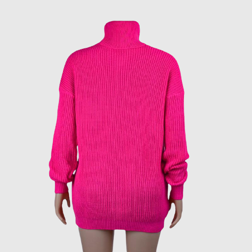 Neon Turtleneck Long Sleeve Pullover