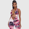 Tie Dye Hollow Out Jumpsuit