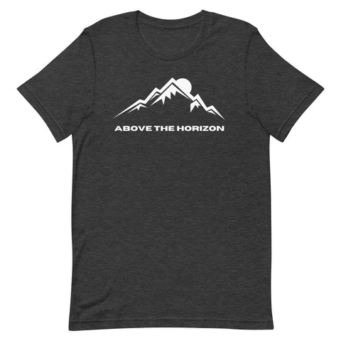 unisex-dark-grey-heather-above-the-horizon-t-shirt