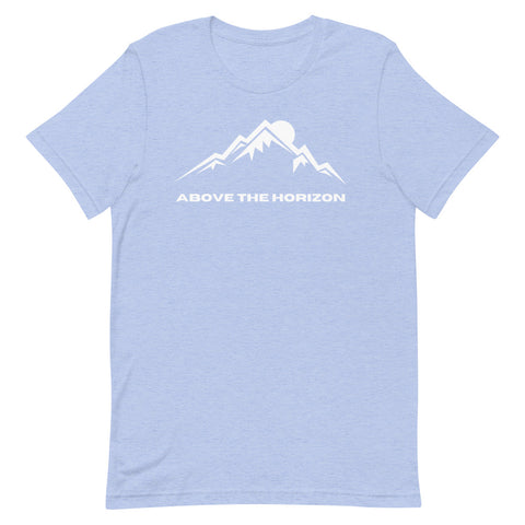 unisex-sky-blue-heather-above-the-horizon-t-shirt