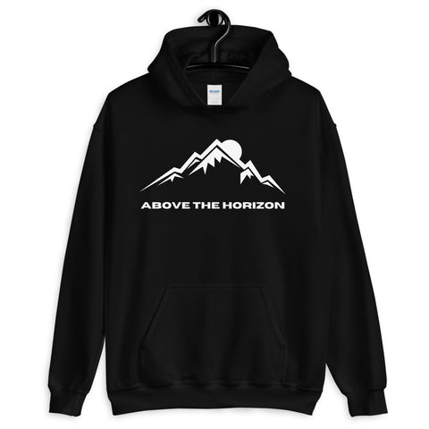 unisex-jet-black-above-the-horizon-hoodie